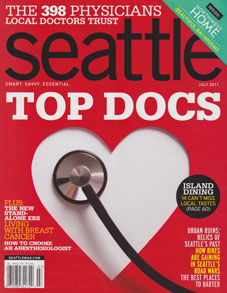 Seattle Magazine, July, 2011