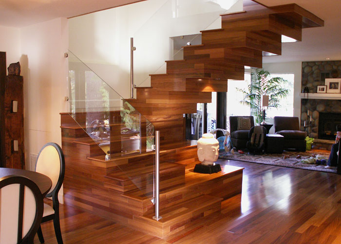 Custom staircase in the Obermaier residence